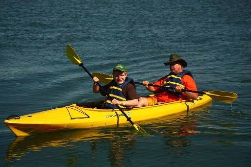 Kayaking at the World Autism Awareness Weekend, Wrightsville Beach, NC, 2011