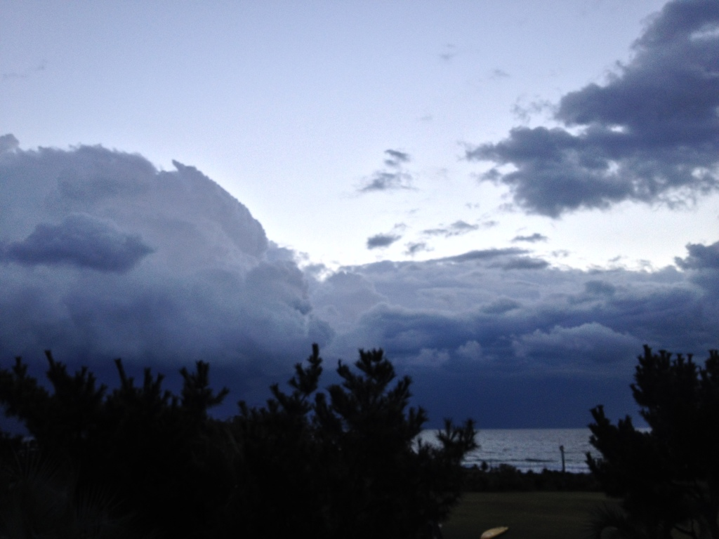 Early morning sky at Wrightsville Beach, prior to 2014 NC Surf to Sound Challenge, NCPressRelease