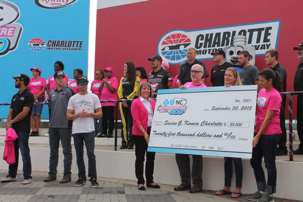 Drive for the Cure Check Presentation by BCBSNC, Charlotte Motor Speedway