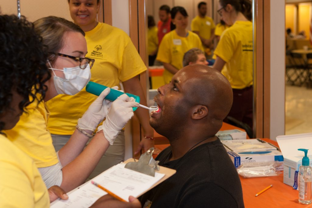 Special Smiles dental exams, courtesy of Special Olympics NC