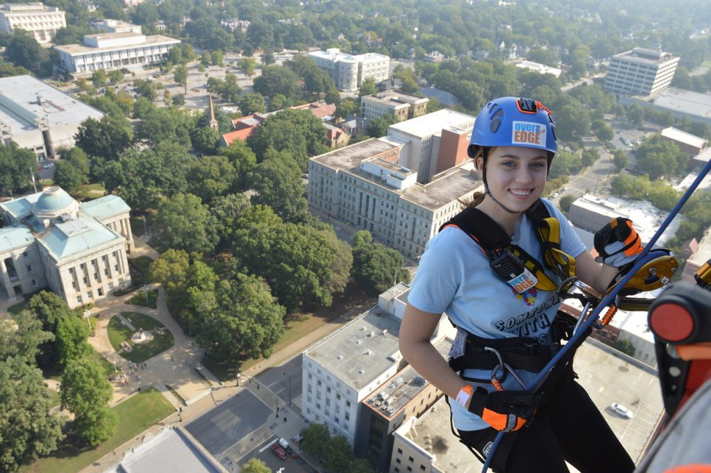 Going Over the Edge of Wells Fargo Capitol Center - Courtesy of SONC