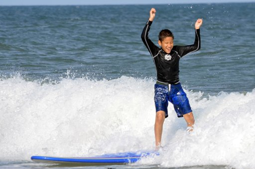 Visually Impaired Surf Camp by Indo Jax; Wrightsville Beach, NC; ncPressRelease.com; Robert Butler
