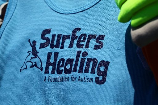 Surfers Healing Logo on Shirt, World Autism Awareness Weekend, Wrightsville Beach, ncPressRelease.com