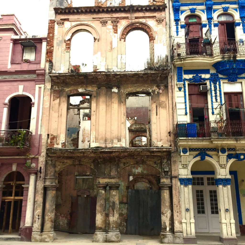Buildings in disrepair are a common sight in Havana, courtesy NC Press Release